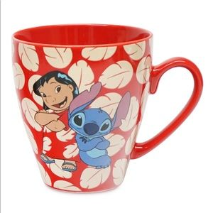 Disney Lilo & Stitch Ohana Means Family Red Mug